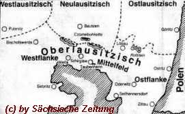 die Mundartkarte in der Oberlausitz - (c) by Sächsische Zeitung